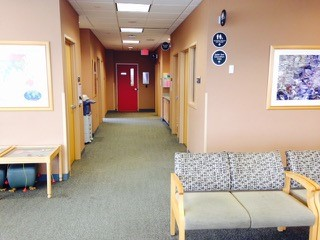 red door clinic lobby area